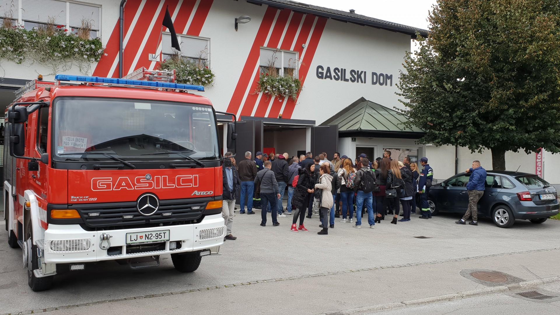 Obisk delegacije gasilcev in občinskih delavcev občine Palilula-Beograd
