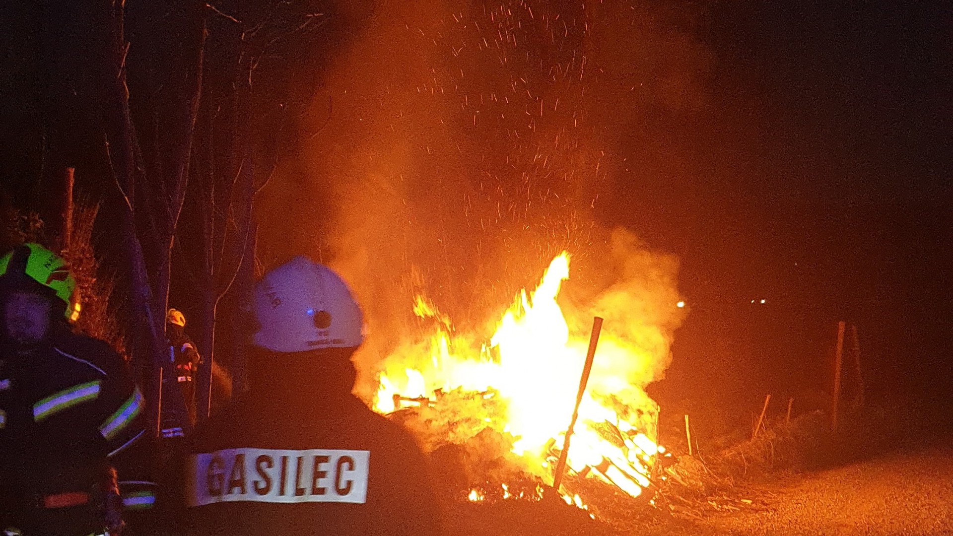 Požar travnika pri Lotričevi ulici