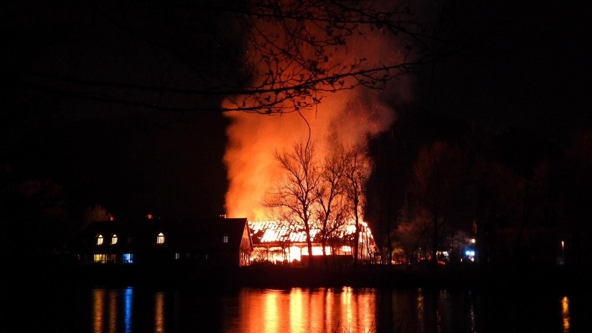 Požar gospodarskega poslopja na Kajakaški cesti
