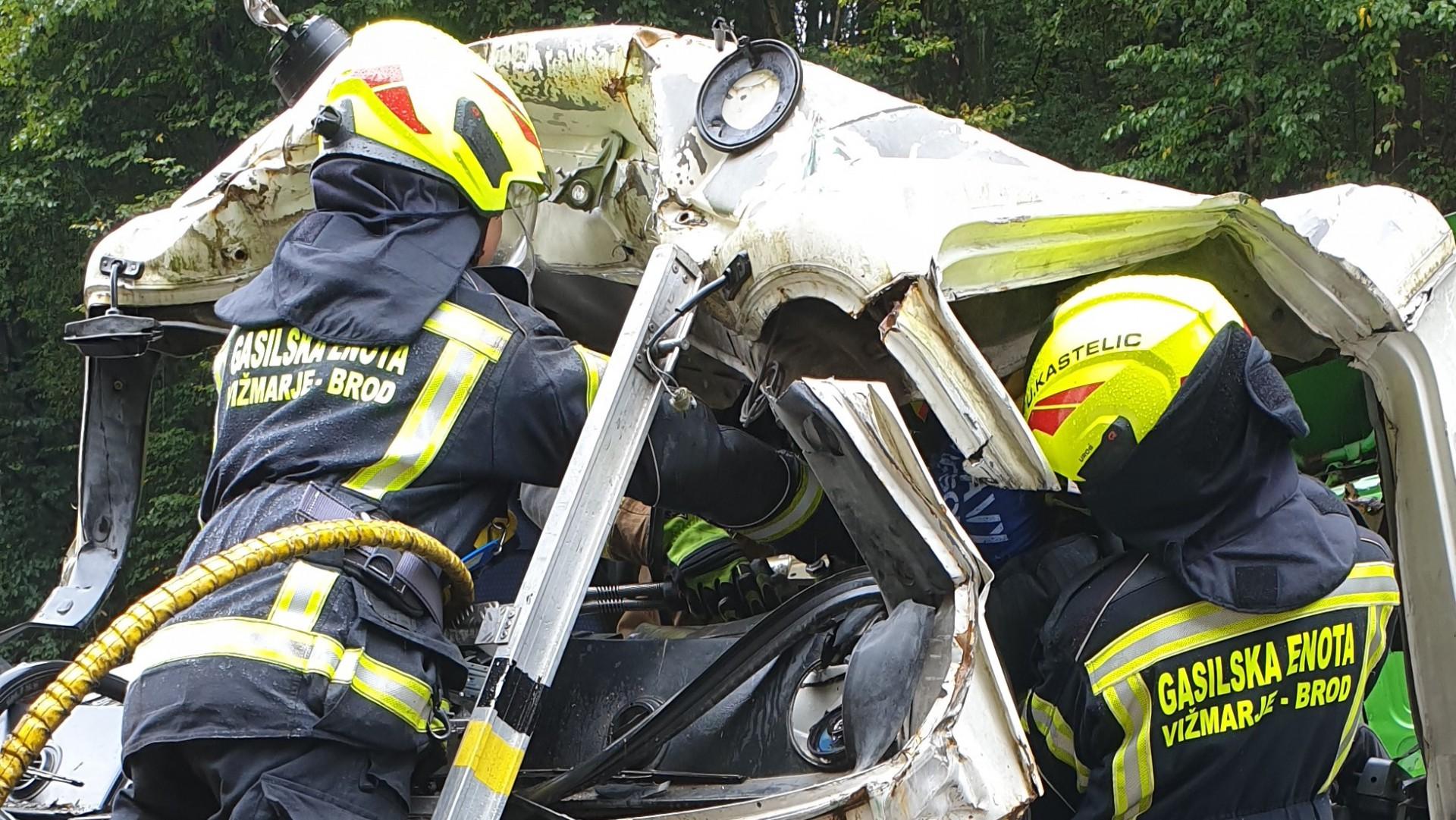 Usposabljanje tehničnega reševanja-razrez tovornih vozil