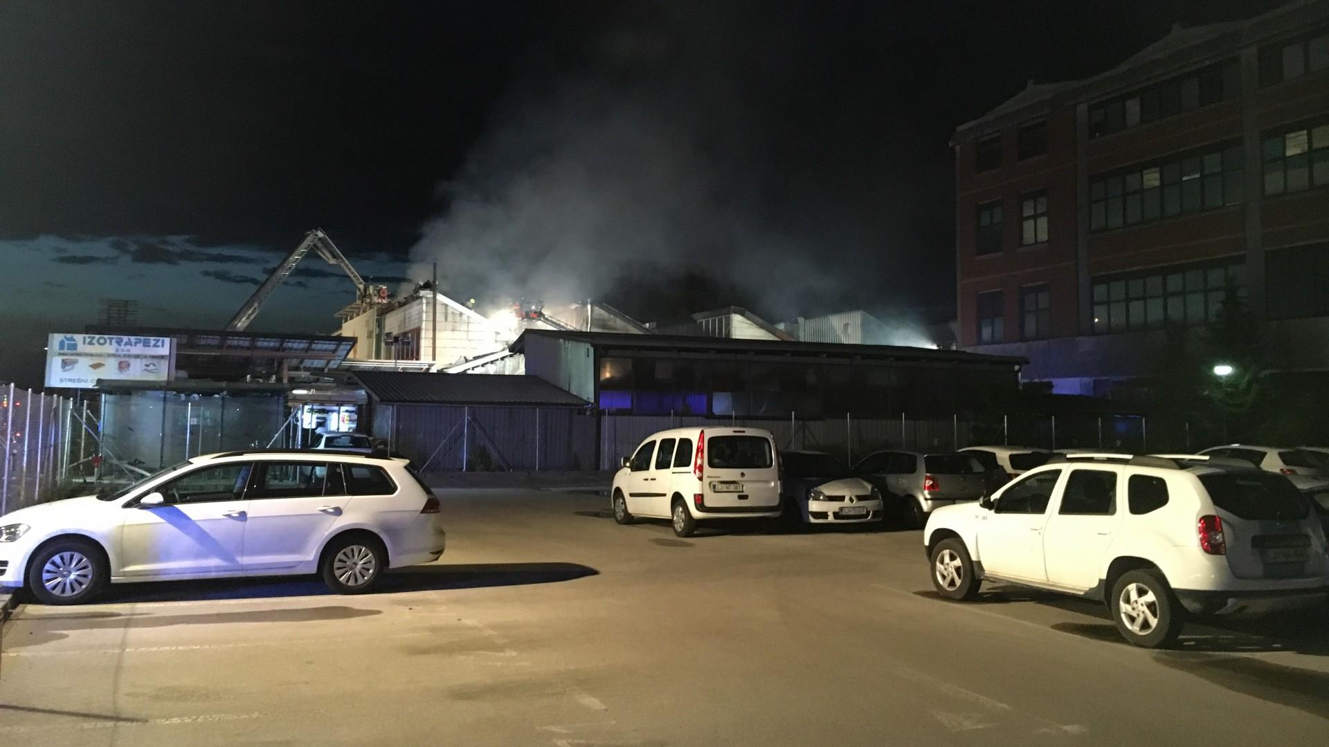 Požar objekta v Stegnah