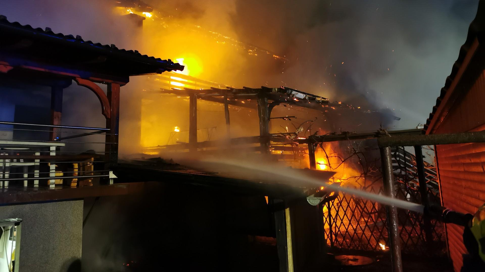 Požar hiše na Taborski cesti